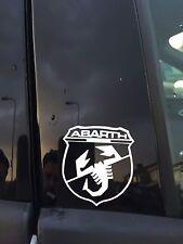 2x FIAT ABARTH STICKER SHIELD SCORPIAN PUNTO EVO 500 Grande PUNTO 595  X2 PAIR