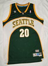 Gary Payton Seattle Sonics Adidas Basketball Jersey Green Men's XL