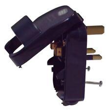 European Schuko to UK Converter Plug 10A Black (Grounded)