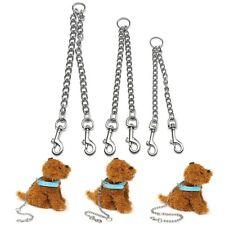 Double Pet Dog Chain Lead Leash Splitter Coupler Puppy 2 Way Walking Training z