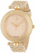 Versace Women's VK7020013 VANITAS Gold IP Steel Beige Leather Two straps Watch