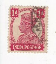 1943 INDIA 1A. KING GEORGE VI STAMP