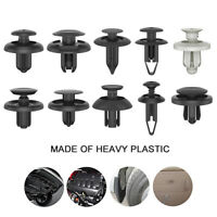 100x Car Plastic Clips Rivet Set Push Fit Door Boot Trim Panels Bumper Fastener