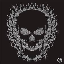 Strass crâne strass cristal motif Transfert Fer Sur Hotfix Applique Patch