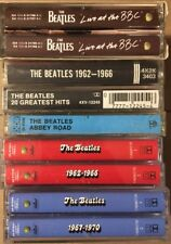Lot of 9 The Beatles Cassette Tapes BBC Abbey Road ALL THE HITS Lennon McCartney
