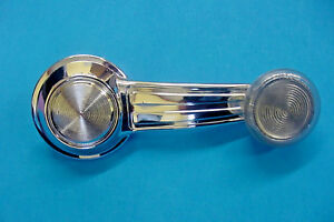 GMC New GM Chrome Manual Door Window Crank Handle Roller Clear Knob NOS R
