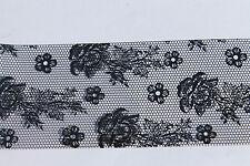 """""""Black Lace"""" transfer nail art foil - 1 meter"""