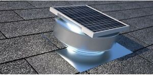 Solar Powered Roof Mounted Exhaust Attic Fan Active Ventilation Vent RBSF-8