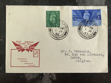 1948 Sutton Coldfield England Resumption of All Up Mail to Europe Cover Belgium