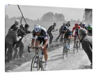 Paris – Roubaix 30x20 Inch Canvas Cycling Framed Picture Wall Art Work