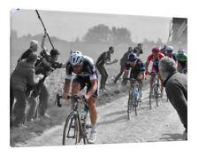 Parigi-Roubaix 30x20 pollici tela Ciclismo Foto Incorniciata Wall Art Work