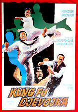 KUNG FU GIRL 1974 TIE WA CHINESE WEI LO KARATE MARTIAL ARTS EXYU MOVIE POSTER