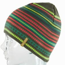 Bonfire ELLIS Womens 100% Acrylic Beanie Bunker Green Multi-Color NEW