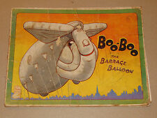 VINTAGE 1940s 'BOO-BOO THE BARRAGE BALLOON' BOOK! WAR TIME STORY! 1st EDITION!