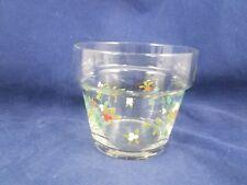 "Pfaltzgraff WINTERBERRY GLASS FLOWER POT/VOTIVE 3 1/2"""
