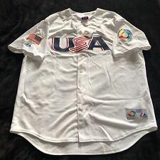 World Baseball Classic 2006 USA Mens XXL Majestic White Sewn Jersey NWT