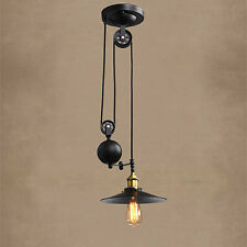 Antique Chandelier Lighting Bar LED Lamp Black Pendant Light Shop Ceiling Lights