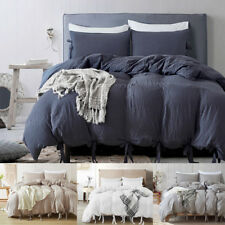 Washed Cotton Bedding Set Comforter Duvet Cover Pillowcase Bed Sets