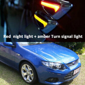 for Ford Falcon AU BA BF FG Red + Amber LED Side Indicators turn signal light 2x