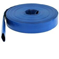 HIGH QUALITY BLUE PVC LAYFLAT HOSE- EXPANDABLE FLEXIBLE GARDEN HOSE PIPE-UK