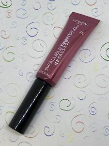 L'Oréal Paris Infallible Paints Lips Metallic Galactic Foil 332 Lip Gloss 0.27oz