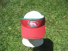 NRL SOUTH SYDNEY RABBITOHS SUN VISOR Embroidered w/original tags -NEW!