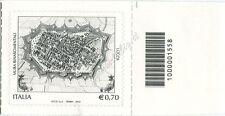 2013 francobollo Mura Rinascimentali di Lucca DX CODICE A BARRE 1558