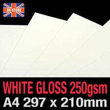 25 sheets x A4 Economy High Gloss Printer Card 250gsm - 297 x 210mm