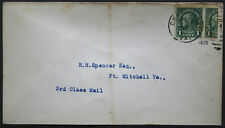 Cover - True One Cent Bisect to 1 1/2 Ct 3rd Class Mail rate - Chase Va S21