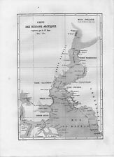 Carta geografica antica BAIA di BAFFIN oceano artico 1861 Old map