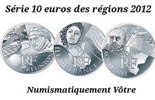 Série 10 euros des régions personnages (argent) 27 pièces  2012 Monnaie de Paris