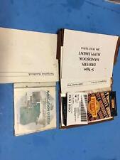 2000 Jaguar S-Type Midwest Region Navigation CD Manual & Glovebox Pouch Case