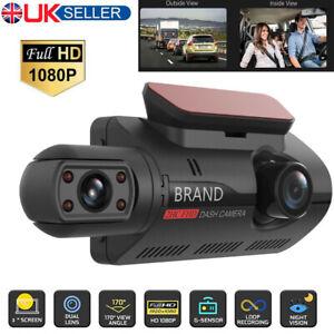 Car Camera Dash Cam Front inside Dual Lens HD 1080P Video Recorder G-sensor UK