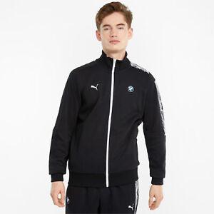 Puma BMW Mms T7 Fermeture à Éclair Veste Homme Noir Blanc Sportswear Sweat Haut