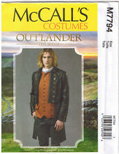 Mens Scottish Highlander Outlander Jamie Coat 1700s Sewing Pattern 38 40 42 44