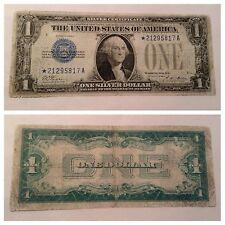 VINTAGE RARE 1928-A STAR $1 SILVER CERTIFICATE ONE DOLLAR BILL FUNNYBACK BLUE