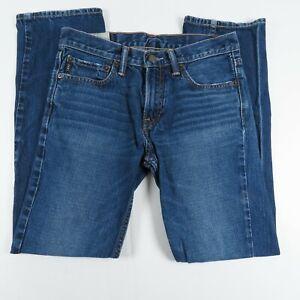 Abercrombie & Fitch Boys Jeans Size 16 Mid Rise Medium Wash Blue Denim
