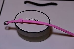 Genuine Links Of London Little Miss Princess Pink Wristband Solid Silver Buckle