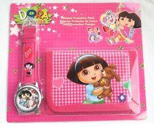 Childrens Kids Girls Swiper Dora the Explorer Purse Wallet & Watch Toy Gift Set