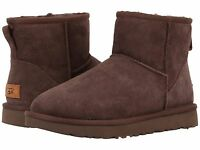 Women's Shoes UGG CLASSIC MINI II Slip On Sheepskin Ankle Boot 1016222 CHOCOLATE