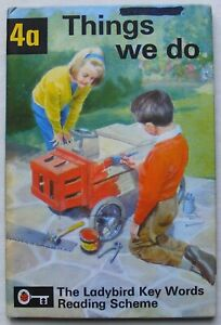 Vintage Ladybird Book – 4a Things we do – Key Words – Peter & Jane – Very Good