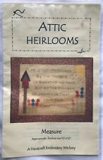 """Attic Heirlooms Measure Embroidery Pattern - """"Life is Not Measured by. . ."""""""
