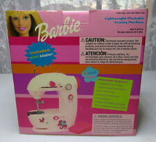 Barbie Lightweight Portable Sewing Machine Real Sewing Machine in box