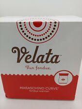 Velata Fun Fondue Maraschino curve Fondue Warmer scentsy red NIB Free shipping