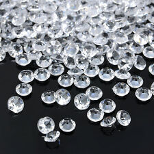 1000PCS 4.5mm Clear White Acrylic Crystals DIY Wedding Party Festive Decorations