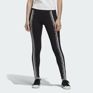 Adidas R.Y.V. Two-Tone Branded Tape Leggings Size Extra Small