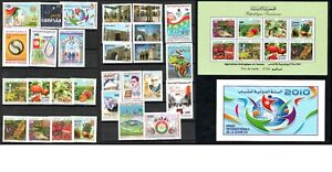 2010 - Tunisia - Full year 29 stamps + 1 block + 1 official postcard- MNH**