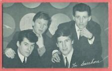 1960'S  EXHIBIT ARCADE CARD SINGING GROUP THE SEARCHERS BILLBOARD BIO BACK EX+