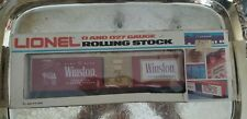 """LIONEL """"O"""" AND """"027 ROLLING STOCK WINSTON BOX CAR 7708"""