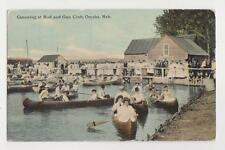Omaha,Nebraska,Canoeing at Rod & Gun Club,Douglas County,Used,1912